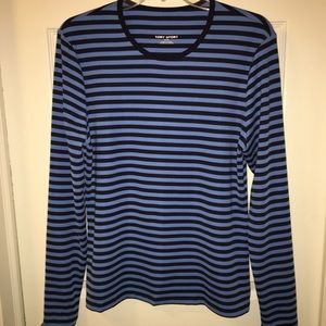 LOVED AUTHENTIC TORY BURCH SPORT BLUE STRIPE TOP